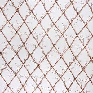 2020166-1016 TWIG TRELLIS Brown White Lee Jofa Fabric