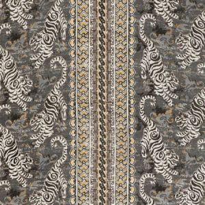 2020197-2146 BONGOL PRINT Charcoal Lee Jofa Fabric