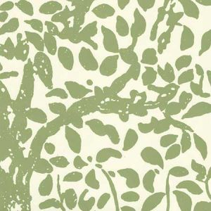 2030-02WP ARBRE DE MATISSE Jungle Green On Off White Quadrille Wallpaper