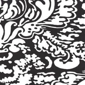 2335-37WP SAN MARCO REVERSE Black On White Quadrille Wallpaper