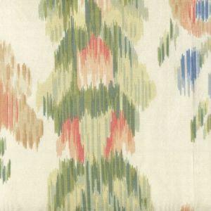 2366 MANDARIN MOIRE Multi Salmon Green Moire Quadrille Fabric