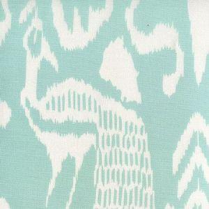 2430-51 BALI II Aqua on White Linen Cotton Quadrille Fabric