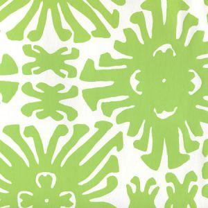 2475WP-02 SIGOURNEY SMALL SCALE Jungle Green On White Quadrille Wallpaper