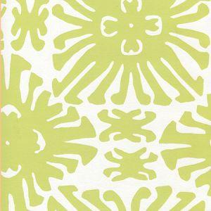 2475WP-11 SIGOURNEY SMALL SCALE Chartreuse On White Quadrille Wallpaper
