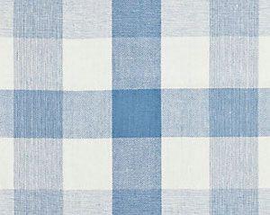 27135-007 WESTPORT LINEN PLAID Sky Scalamandre Fabric