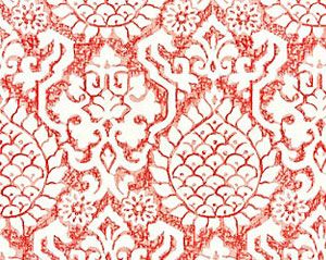 27217-002 SURAT EMBROIDERY Coral Scalamandre Fabric