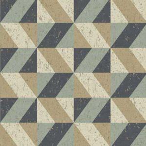 2896-25310 Cerium Concrete Geometric Blue Brewster Wallpaper