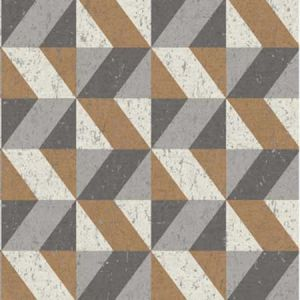 2896-25312 Cerium Concrete Geometric Copper Brewster Wallpaper