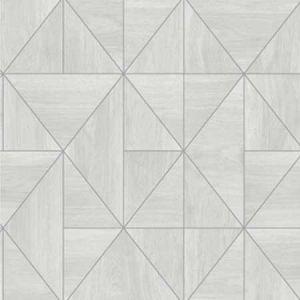 2896-25320 Cheverny Wood Tile Light Grey Brewster Wallpaper