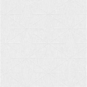 2896-25343 Bernice Diamond Geometric White Brewster Wallpaper