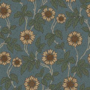2948-28023 Leilani Floral Blue Brewster Wallpaper