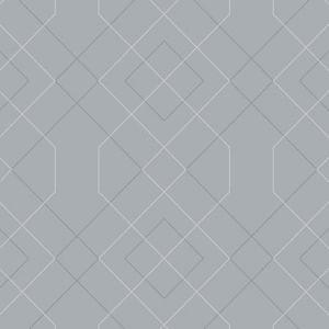 2964-25910 Ballard Geometric Pewter Brewster Wallpaper