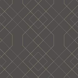 2964-25912 Ballard Geometric Grey Brewster Wallpaper