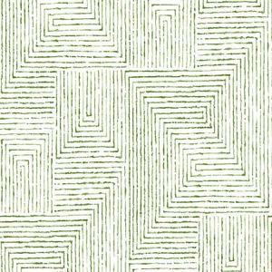 2964-25954 Merritt Geometric Green Brewster Wallpaper