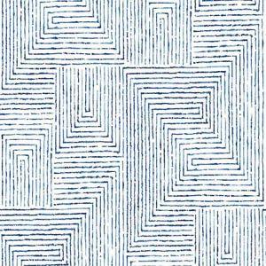 2964-25955 Merritt Geometric Indigo Brewster Wallpaper