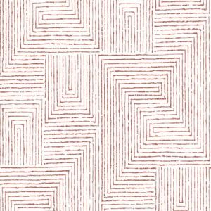 2964-25956 Merritt Geometric Red Brewster Wallpaper