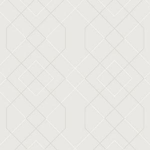 2964-87346 Ballard Geometric Silver Brewster Wallpaper