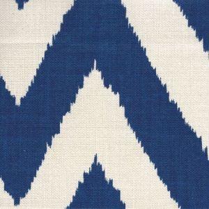 302506F TASHKENT Royal Blue on Oyster Quadrille Fabric