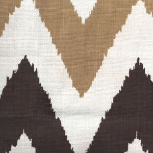 302603F TASHKENT II Camel Brown on Oyster Quadrille Fabric
