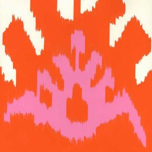 302830W-06WP KAZAK Orange Pink Quadrille Wallpaper