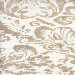 302840F BROMONTE Taupe on Tint Quadrille Fabric
