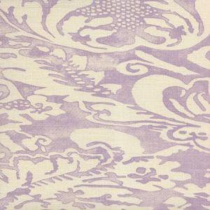 302850B-05 BROMONTE REVERSE Soft Lavender on Tint Quadrille Fabric