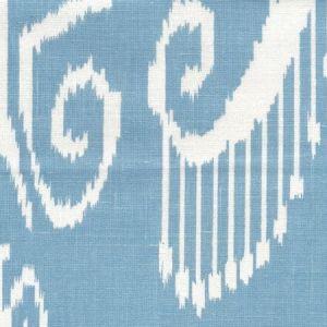 303030WL NOMAD Sky Blue on White Linen Quadrille Fabric