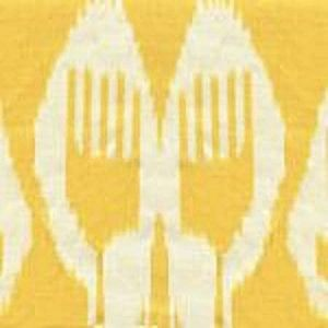 303032TL NOMAD Yellow on Tinted Linen Quadrille Fabric