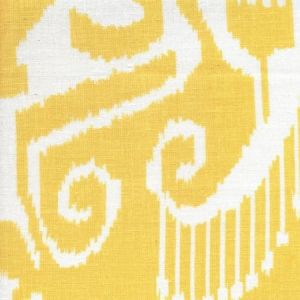303032WL NOMAD Yellow on White Linen Quadrille Fabric