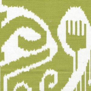 303035TLC NOMAD Lime on Tinted Cotton Linen Quadrille Fabric