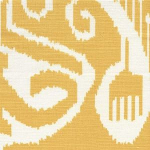 303042TLC NOMAD Inca Gold on Tinted Linen Cotton Quadrille Fabric