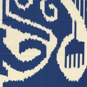 303047TLC NOMAD Navy on Tinted Linen Cotton Quadrille Fabric