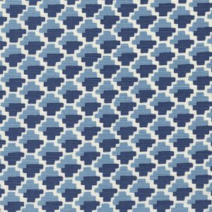 303720F-01 IL GIOCO French Blue New Navy Tint Quadrille Fabric