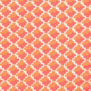 303720F-09 IL GIOCO Arancia on Light Tint Quadrille Fabric