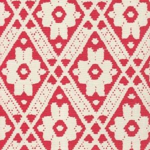 305056F VIENNESE Red on Tint Quadrille Fabric