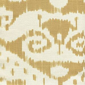 306043F MALAYA Camel on Tint Quadrille Fabric