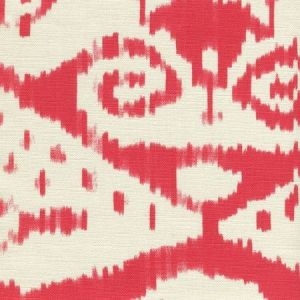 306050F MALAYA Red on Tint Quadrille Fabric