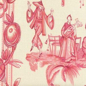 306156F DANSE CHINOIS Magenta Pink Rose Quadrille Fabric