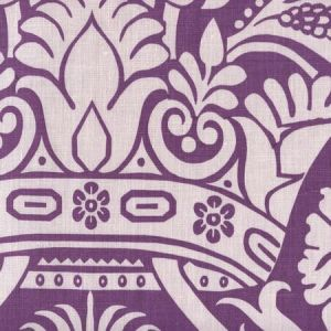 306172F CORINTHE DAMASK REVERSE Lilac on Purple Quadrille Fabric