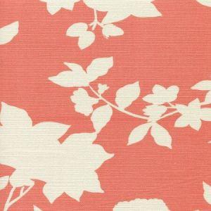 306183F HAPPY GARDEN BACKGROUND Rust Orange on Tint Quadrille Fabric