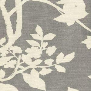 306185F HAPPY GARDEN BACKGROUND Grey on Tint  Quadrille Fabric