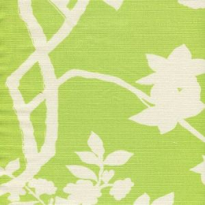 306186F HAPPY GARDEN BACKGROUND Jungle Green on Tint Quadrille Fabric