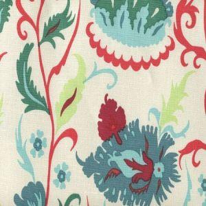 306265F UZBEK SMALL SCALE Multi Red Teal Blues Quadrille Fabric