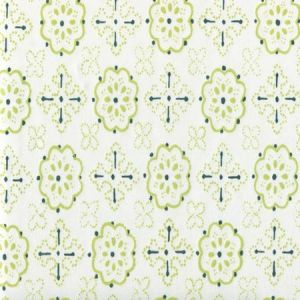 306311CTTN CRAWFORD Green Lime Quadrille Fabric