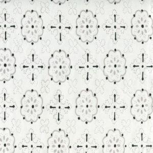 306312CTTN CRAWFORD Light Grey Black Quadrille Fabric