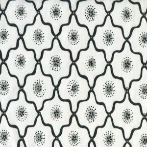 306320C-09CTT LONGFELLOW Black,Grey on White Cotton Quadrille Fabric