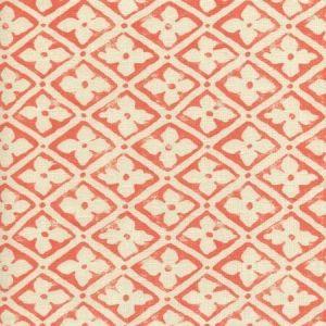 306330F-14 PUCCINI Tomato on Tinted Linen Quadrille Fabric