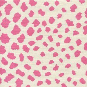 306360F-02 CHEETAH Pink on Tint Quadrille Fabric