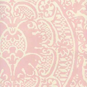 352000W-22OWP VENETO Soft Pink On Off White Quadrille Wallpaper