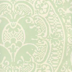 352000W-24OWP VENETO Soft French Green On Off White Quadrille Wallpaper